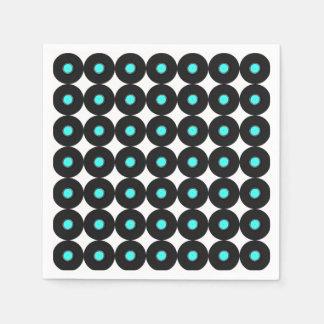 Record Album Pattern Disposable Serviette