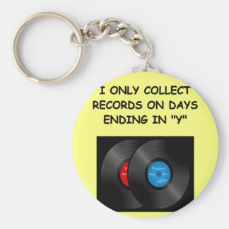 record collecting keychains