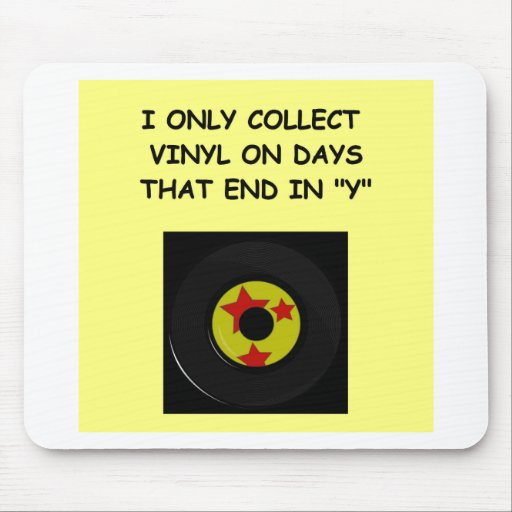record collecting mouse pad