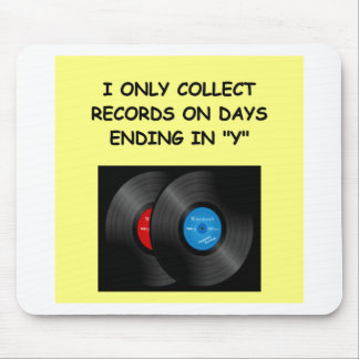 record collecting mouse pads