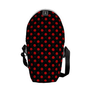 Record Collector Print in Black and Red Commuter Bags