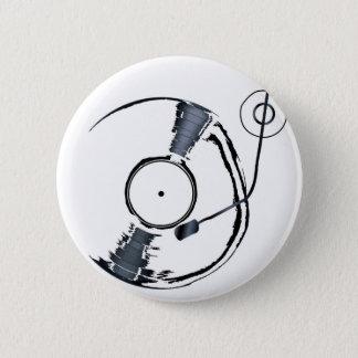 Record Deck Background 6 Cm Round Badge