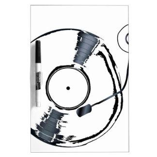 Record Deck Background Dry Erase White Board