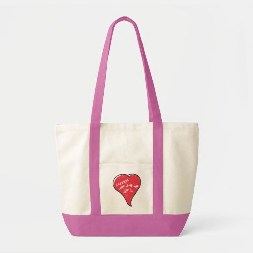 Record-Keeping Heart Canvas Bag
