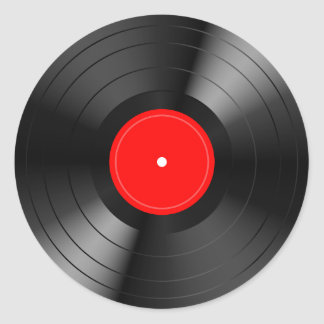 Record_LP Classic Round Sticker
