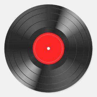 Record_LP Round Sticker