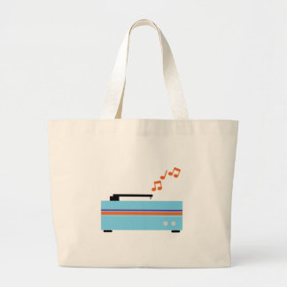 Record Player Canvas Bags