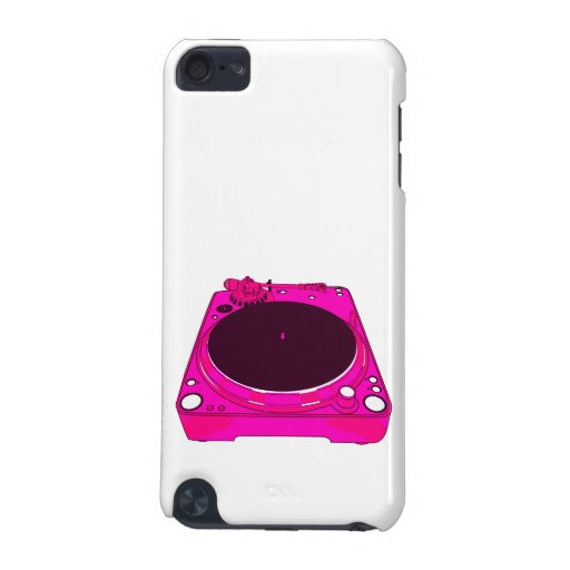 Record Player Pink Colour Graphic iPod Touch 5G Covers