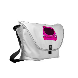 Record Player Pink Colour Graphic Commuter Bag