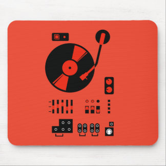 Record Player (red) Mouse Pad