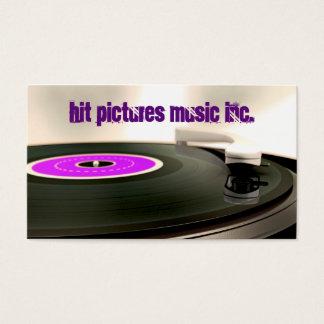 Record Player Turntable Cut Standard Business Card
