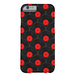 Record Print in Black and Red Barely There iPhone 6 Case
