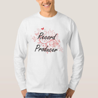Record Producer Artistic Job Design with Butterfli T Shirt