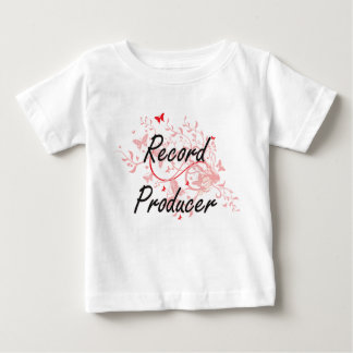Record Producer Artistic Job Design with Butterfli Tee Shirt