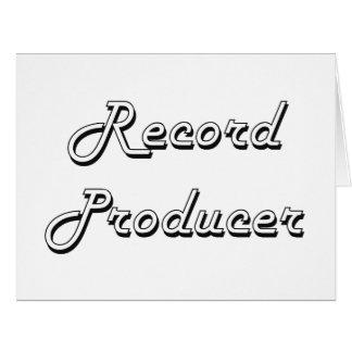 Record Producer Classic Job Design Large Greeting Card