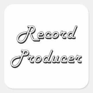 Record Producer Classic Job Design Square Sticker