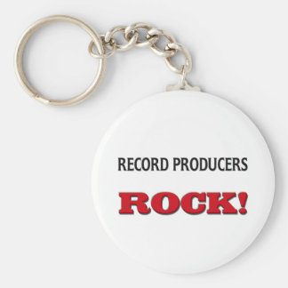 Record Producers Rock Basic Round Button Key Ring