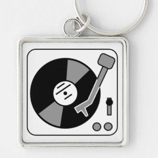 Record Turntable Key Ring