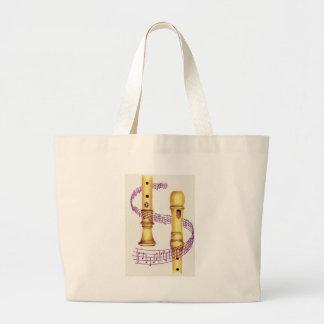 Recorder and Music Jumbo Tote Bag