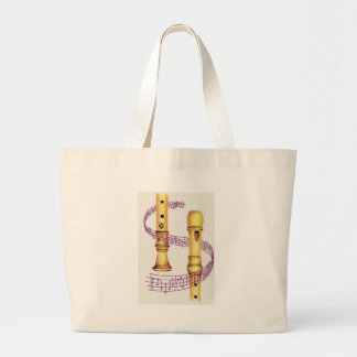 Recorder and Music Canvas Bags