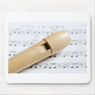 Recorder And Sheet Music Mousepads
