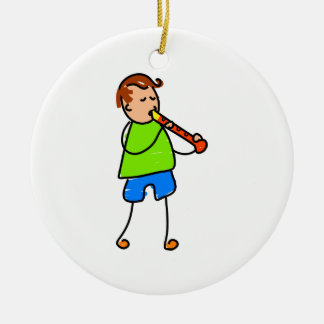 Recorder Kid Ceramic Ornament