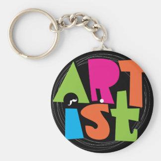 Recording Artist Basic Round Button Key Ring