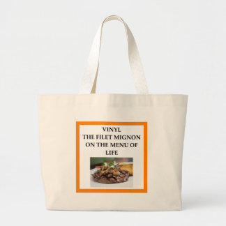 RECORDS LARGE TOTE BAG