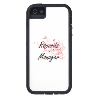 Records Manager Artistic Job Design with Hearts iPhone 5 Cases