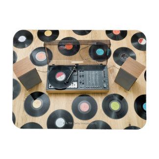Records on Floor 2 Rectangular Magnets