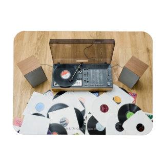 Records on Floor Vinyl Magnet