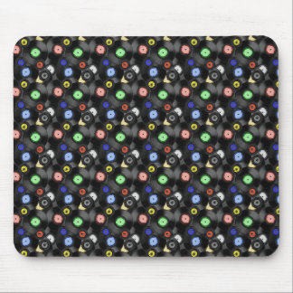 Records Pattern Mouse Pads