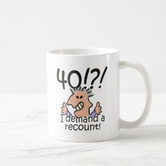 Recount 40th Birthday Basic White Mug