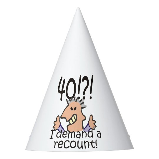 Recount 40th Birthday Party Hat