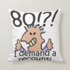 Recount 80th Birthday Cushion