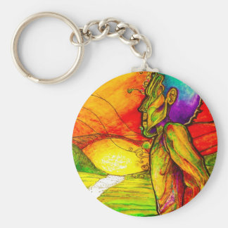 recover basic round button key ring