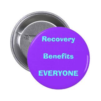 recovery, drug, sober 6 cm round badge
