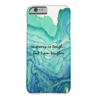 """Recovery is tough... but I am tougher"" phone case"