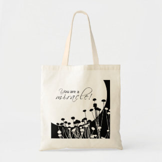 Recovery Miracle, Black and White Tote Bag