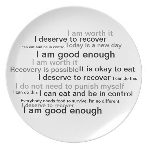 Recovery Plate Eating Disorders