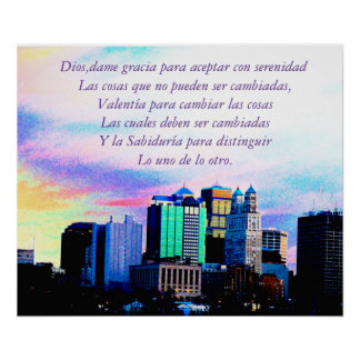 Recovery  Poster-Serenity prayer/spanish Poster