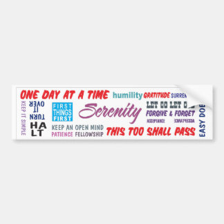 recovery slogans bumper sticker