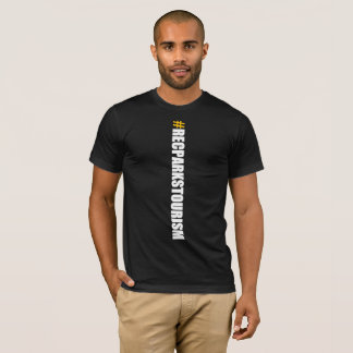 #RECPARKSTOURISM Men's T-Shirt (Vertical Black)