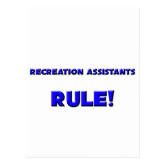 Recreation Assistants Rule Post Cards