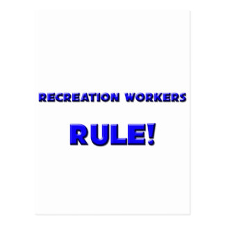 Recreation Workers Rule! Post Cards