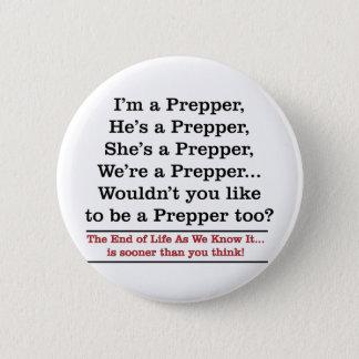 Recruit a Prepper 6 Cm Round Badge