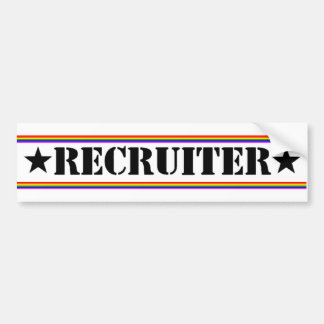 Recruiter Bumper Sticker