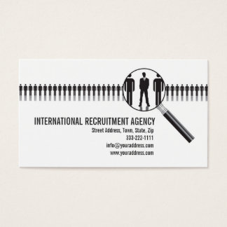 Recruitment Agency Consultation Business Card