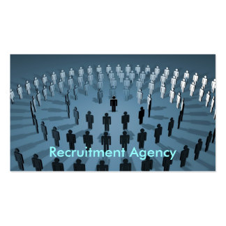 Recruitment Agency Pack Of Standard Business Cards