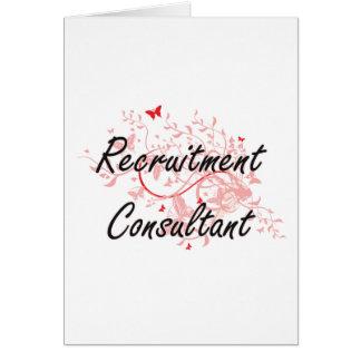 Recruitment Consultant Artistic Job Design with Bu Greeting Card